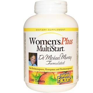 Natural Factors, Women's Plus MultiStart, 180 tabletes