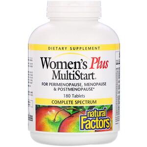 Натурал Факторс, Women's Plus MultiStart, 180 Tablets отзывы