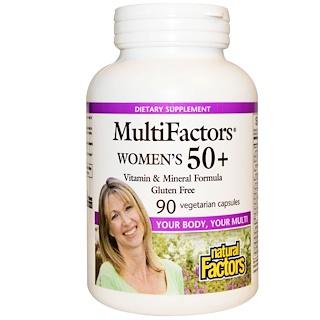 Natural Factors, MultiFactors, Women's 50+, 90 ベジカプセル