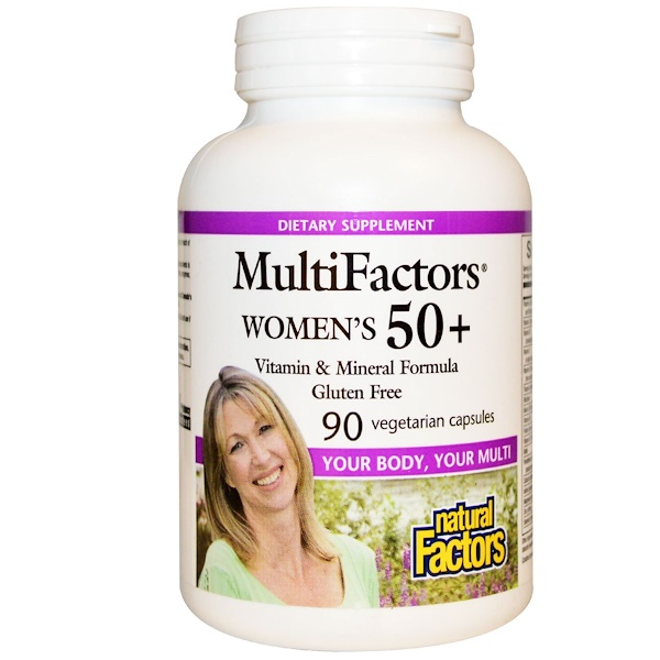 Natural Factors, MultiFactors, 50+ 여성용, 90 베지 캡