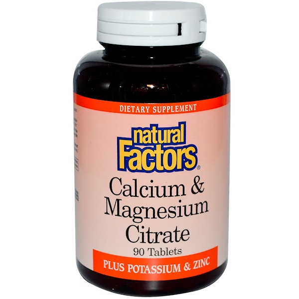 Natural Factors, Calcium & Magnesium Citrate, 90 Tablets (Discontinued Item)
