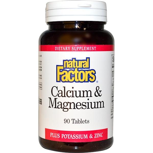 Natural Factors, Calcium & Magnesium, 90 Tablets (Discontinued Item)