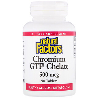 Natural Factors, Chromium GTF Chelate, 500 mcg, 90 Tablets