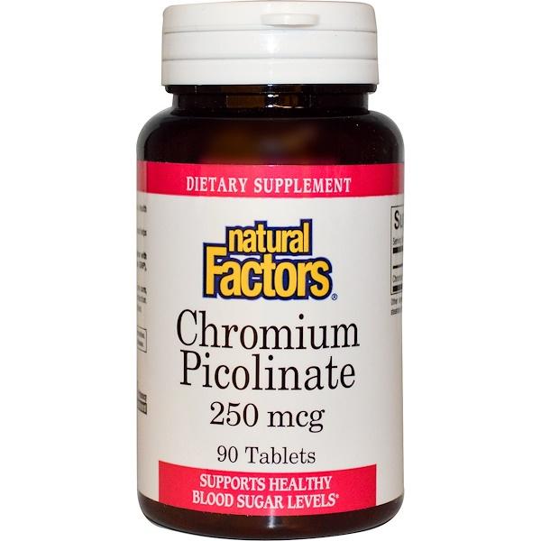 Natural Factors, Chromium Picolinate, 250 mcg, 90 Tablets (Discontinued Item)