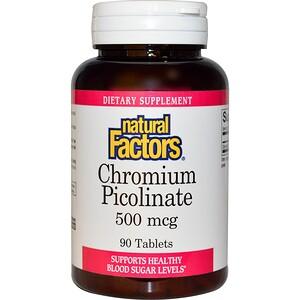 Натурал Факторс, Chromium Picolinate, 500 mcg, 90 Tablets отзывы