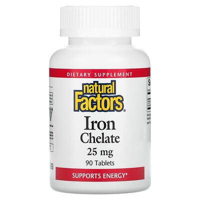 Купить Natural Factors Комплекс железа, 25 мг, 90 таблеток