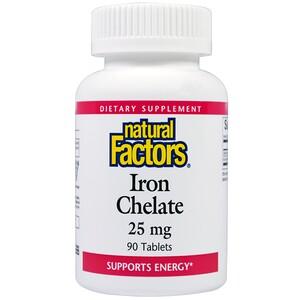Натурал Факторс, Iron Chelate, 25 mg, 90 Tablets отзывы покупателей