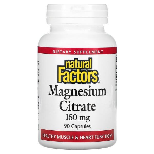 Citrato de Magnésio, 150 mg, 90 Cápsulas
