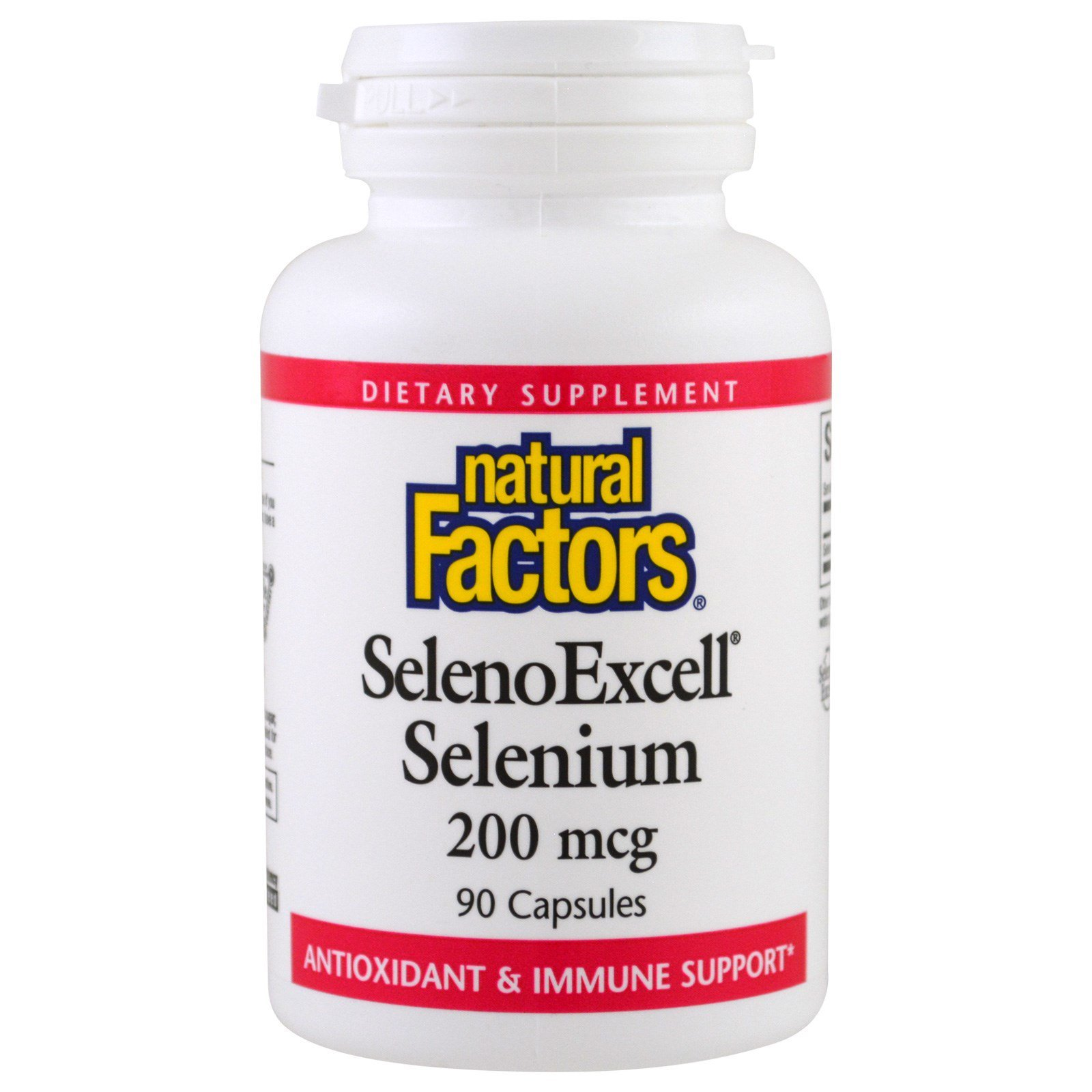 Natural Factors, SelenoExcell, селен, 200 мкг, 90 капсул