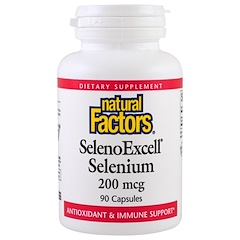 Natural Factors, SelenoExcell,硒,200微克,90粒膠囊