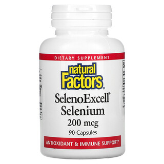 Natural Factors, SelenoExcell, Selenium, 200 mcg, 90 Capsules