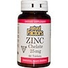 Natural Factors, Zinc Chelate, 25 mg, 90 Tablets