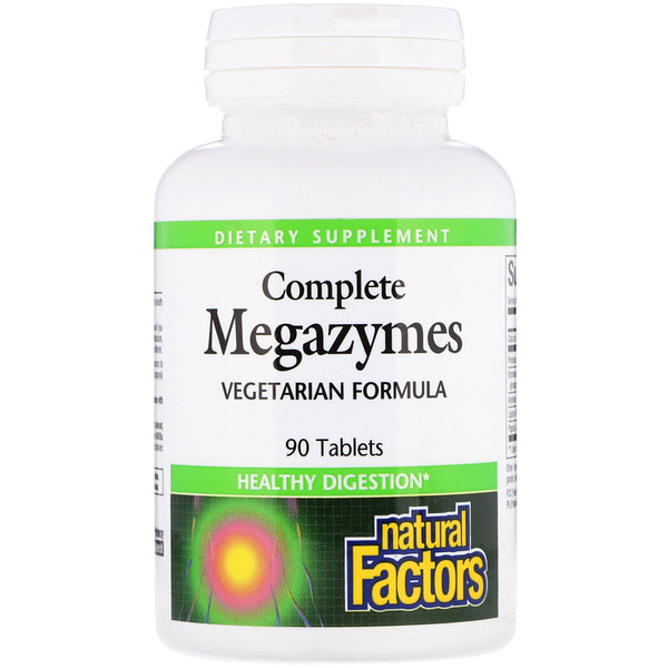 Natural Factors, Complete Megazymes, 90 Tablets