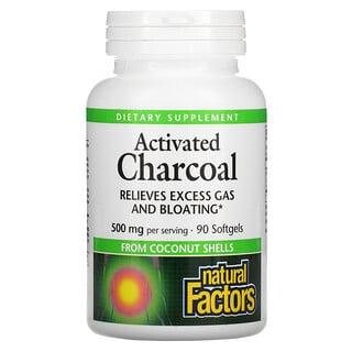 Natural Factors, Activated Charcoal, 500 mg, 90 Softgels