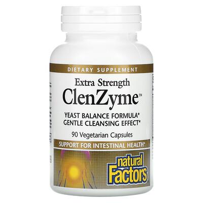 Купить Natural Factors Сверхмощный ClenZyme, 90 вегетарианских капсул