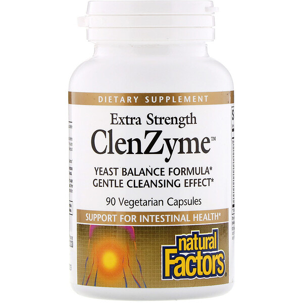 Natural Factors, ClenZyme extra fuerte, 90 cápsulas vegetarianas (Discontinued Item)