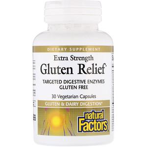 Натурал Факторс, Extra Strength Gluten Relief, 30 Vegetarian Capsules отзывы