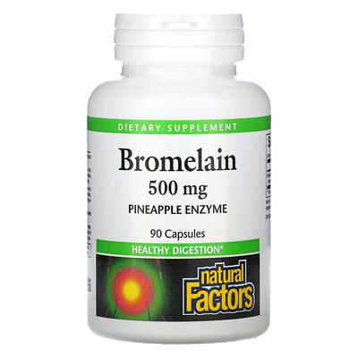 Natural Factors Bromelain, 500 mg, 90 Capsules