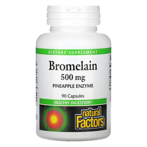 Bromelain, 500 mg, 90 Capsules