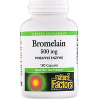 Бромелаин, 500 мг, 180 капсул - фото
