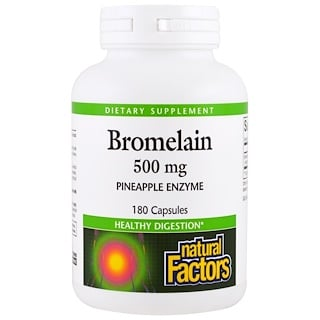 Natural Factors, Bromelain, 500 mg, 180 Capsules