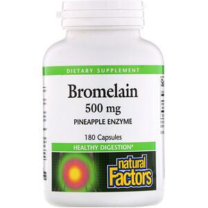 Натурал Факторс, Bromelain, 500 mg, 180 Capsules отзывы покупателей
