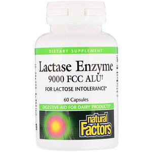 Натурал Факторс, Lactase Enzyme, 9000 FCC ALU, 60 Capsules отзывы покупателей