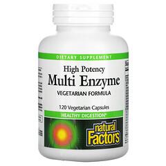 Natural Factors, 優效多酶,120 粒素食膠囊