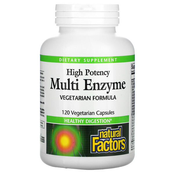 High Potency, Multi Enzyme, 120 Vegetarian Capsules