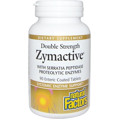 Double Strength, Zymactive, 90 Enteric Coated Tablets