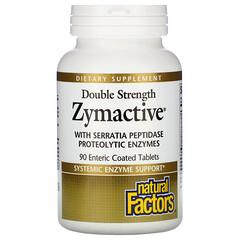 Natural Factors, Zymactive,雙重強度,90 片腸溶包衣片