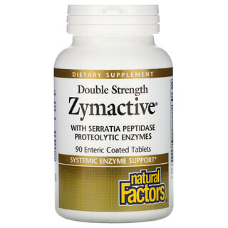 Natural Factors, Zymactive, Double Strength, 90 Enteric Coated Tablets