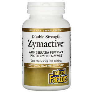 Натурал Факторс, Zymactive, Double Strength, 90 Enteric Coated Tablets отзывы
