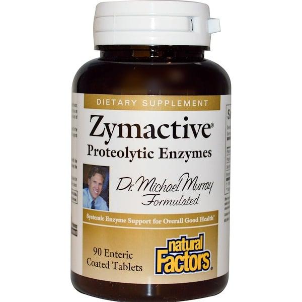 保健品酶:Natural Factors, 活性酶,蛋白水解酶,90片腸溶衣片
