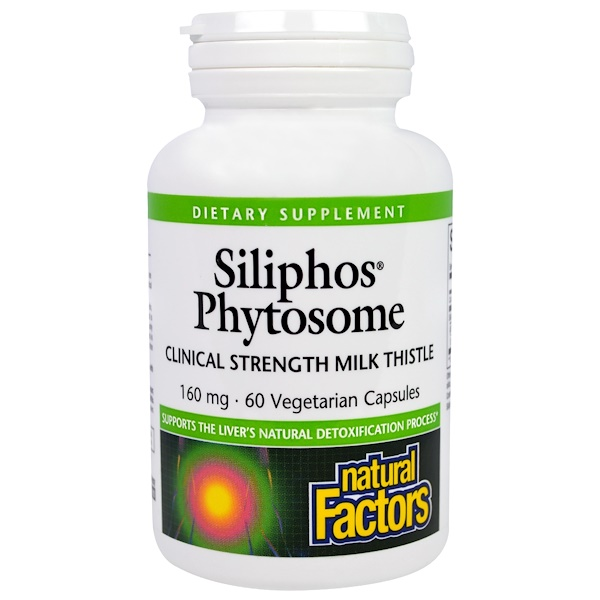Natural Factors, Siliphos Phytosome, Milk Thistle, 160 mg, 60 Veggie Caps