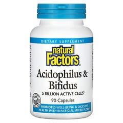 Natural Factors, 乳酸菌與雙歧乳桿菌,50 億,90 粒膠囊