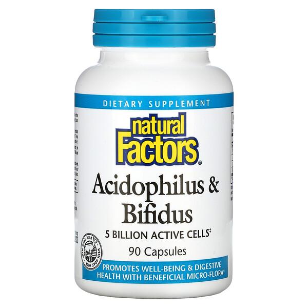 Acidophilus & Bifidus, 5 Billion, 90 Capsules