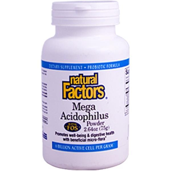 Natural Factors, Mega Acidophilus, 2.64 oz (75 g) Powder (Ice)  (Discontinued Item)