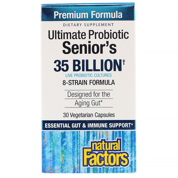 Natural Factors, Ultimate Probiotic Senior's, 35 Billion CFU, 30 Vegetarian Capsules (Discontinued Item)