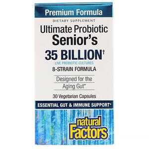 Натурал Факторс, Ultimate Probiotic, Senior's, 35 Billion CFU, 30 Vegetarian Capsules отзывы