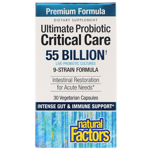 Natural Factors, Ultimate Probiotic Critical Care, 55 Billion CFU, 30 Vegetarian Capsules