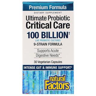 Natural Factors, Ultimate Probiotic, Critical Care, 100 Bilhões de UFC, 30 Cápsulas Vegetarianas