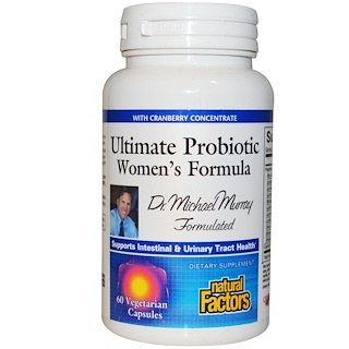 Natural Factors, Ultimate Probiotic, Women's Formula, 60 Veggie Caps
