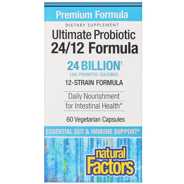 Ultimate Probiotic, 24/12 Formula, 24 Billion CFU, 60 Vegetarian Capsules