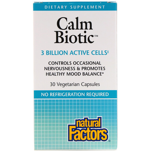 Natural Factors, Calm Biotic, 30 Vegetarian Capsules (Discontinued Item)