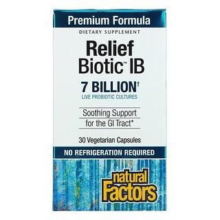 Natural Factors, ReliefBiotic IB, 7 Billion, 30 Vegetarian Capsules