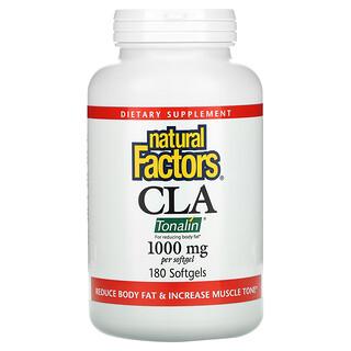 Natural Factors, CLA, Conjugated Linoleic Acid Blend, 1,000 mg, 180 Softgels