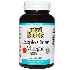 Natural Factors, Apple Cider Vinegar, 500 mg, 180 Capsules