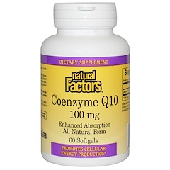 Natural Factors, Coenzyme Q10, 100 mg, 60 Softgels