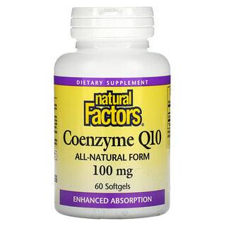 Natural Factors, Coenzyme Q10, 100 mg, 60 Softgels